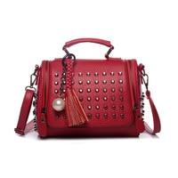 2018 Famous Brand Retro Shoulder Bag Rivet Luxury Handbags Women Bags Designer Handbags High Quality PU