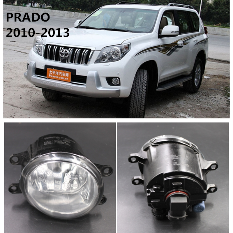 For TOYOTA PRADO 2010-2013  Car Styling Fog Lights Front Bumper  Halogen Fog Lamps 13445932 for car styling front bumper fog lights para toyota iq kgj1 ngj1 2012 2013 fog lamps esquerda direita halogen 1set