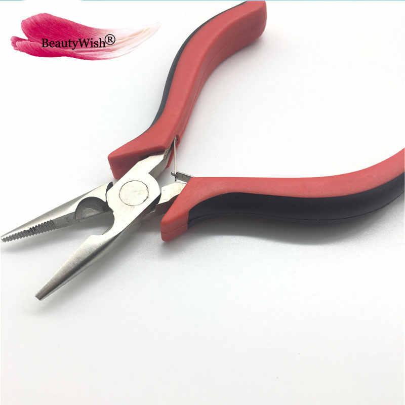 1 шт. плоскогубцы для волос для наращивания волос, микро кольца/бусины для перьев, пучков нарощенных волос инструменты микро-петля плоскогубцы для волос Rebond плоскогубцы для удаления