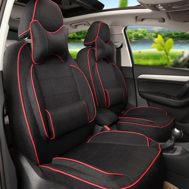 Personalizado Tampa de Assento Do Carro Set Fit para Ford S-MAX 2007/2009 Assentos de Cobertura Estilo Suporta Carro Linho-cobre Protetor de assento Interior