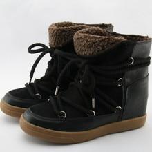 Zobairou Botines Mujer замшевые кожаная обувь на шнуровке; женские зимние ботинки; зимние резиновые сапоги в стиле «панк»; Женская обувь в повседневном стиле; Туфли на танкетке