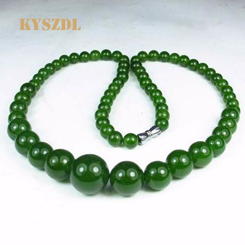 KYSZDL New 2018 Natural green stone Necklace Fashion Beaded Jewelry Ornaments For Women Free Shipping Birthday
