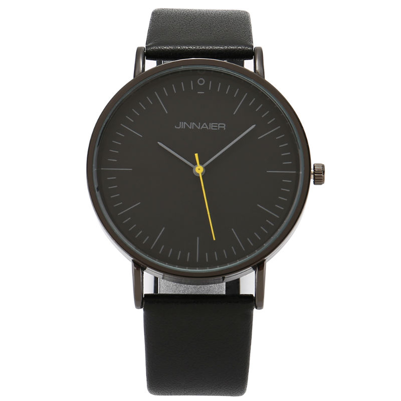 S001K New fashion business casual luxury brand quartz watch star style leather belt men s watches