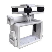 Haute Qualité Nouveau SJ/GoPro/Xiaoyi Caméra Titulaire avec Gimble/Cardan Pour SYMA X8C/X8G/X8W rc Quadcopter Drone rc Hélicoptère Blanc