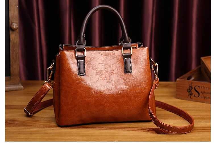 Bolsa de ombro feminina tote bolsa de couro genuíno padrão crossbody messenger bags para mulher 2019 sac a principal senhoras clássico t65