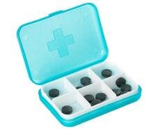 Cruz 6 paquetes de caso Importado hogar carry portátil cápsula píldoras recibe una caja para enviar los viejos amigos