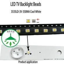 100pcs/lot original led high power led 3535 3v 350ma lamp beads cool white for repair led lcd tv backlight bar hot for original lcd backlight power inverter board for tdk cxa 0505 pcu p307 high pressure plate