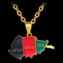 471f7ecf2afd Mode Afrique Afghanistan Carte et Drapeau Pendentif et Colliers pour  Unisexe Or Couleur Carte de L afghanistan Bijoux Bijoux Fem.