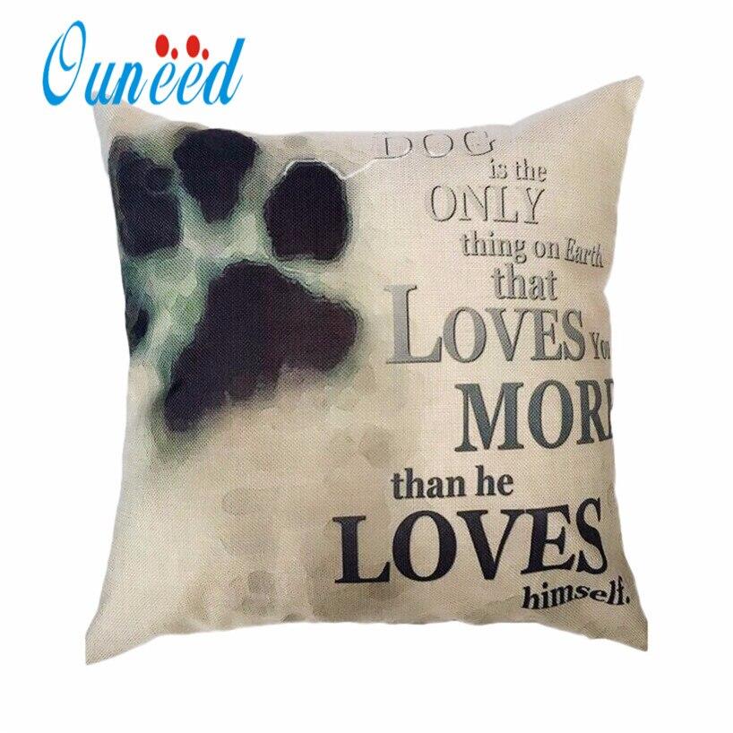 Home Textile Reliable Cute Christmas Dog Cat Pattern Linen Cushion Cover Home Pillowcase Chair Pillowslip Decorative Supplies Housse Coussin 45*45cm Cushion Cover