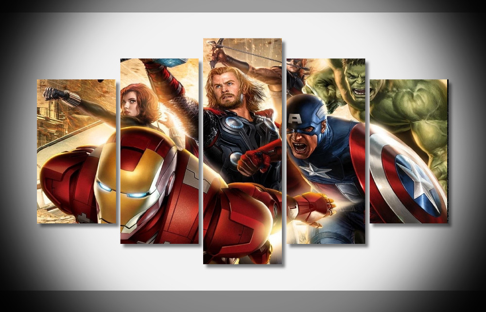 2667 the avengers movie Poster Poster Framed Gallery wrap art print home wall decor wall picture Already to hang digital print