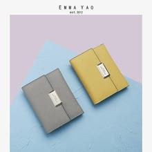 EMMA YAO Womens wallet genuine leather female purse fashion women