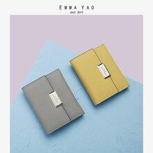 EMMA YAO Women's wallet leather female purse fashion