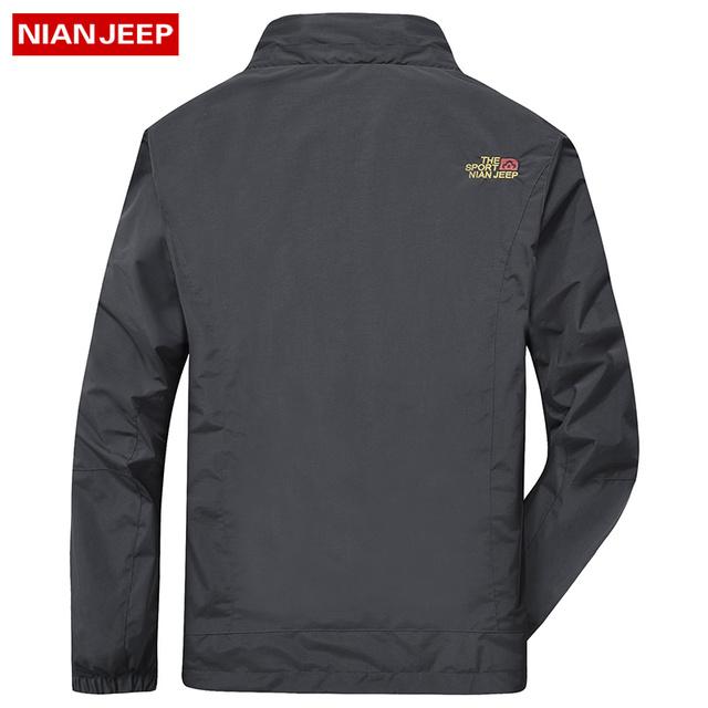 2 IN 1 Fit Jacket High Quality NIAN JEEP Brand Waterproof Windbreaker Jacket Coat Winter Jacket Men Male Coat Rain Jacket Parka