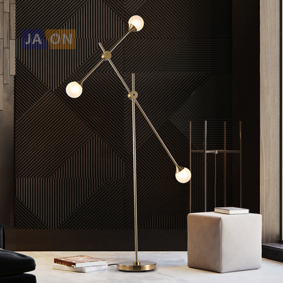 Latest Collection Of Led G4 Postmodern Iron Glass Golden White Rotated Led Lamp Led Light Led Floor Lamp Floor Light For Foyer Dinning Room Bedroom Floor Lamps