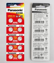 500pcs/lot 100% Original Panasonic AG12 LR43 186 0%Hg for Watches Toys 1.5V Button Cell Alkaline Batteries For calculator