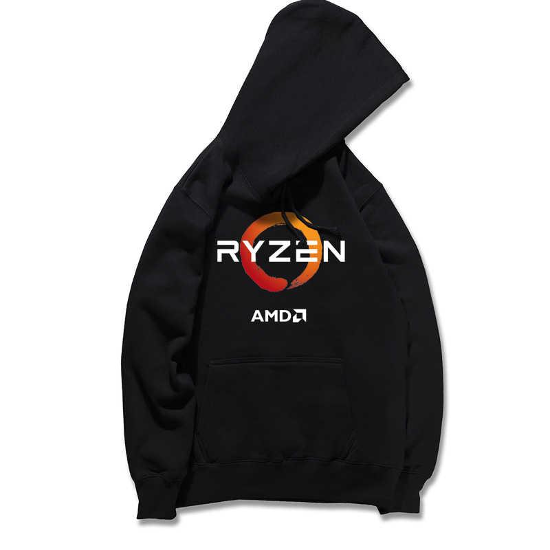 2019 Autumn  New Sweatshirt Fashion Sunshine RYZEN AMD Individuality Hooded Sweatshirt Printing Women /Men Long sleeve Hoodie