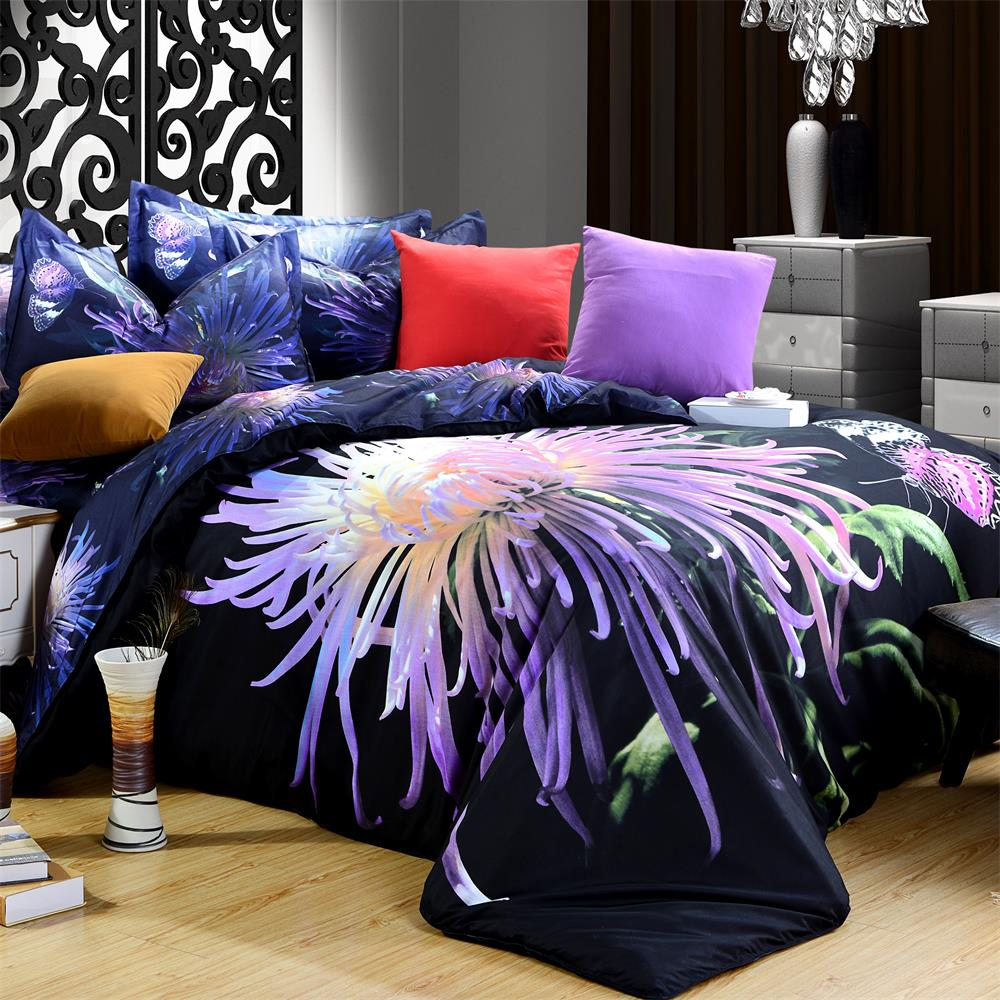 3d Floral Print Rose Daisy Lily Flower Marilyn Monroe Bedding Set Queen Size Duvet Cover Polyester Fabric Cheap Bedroom Set 4pcs