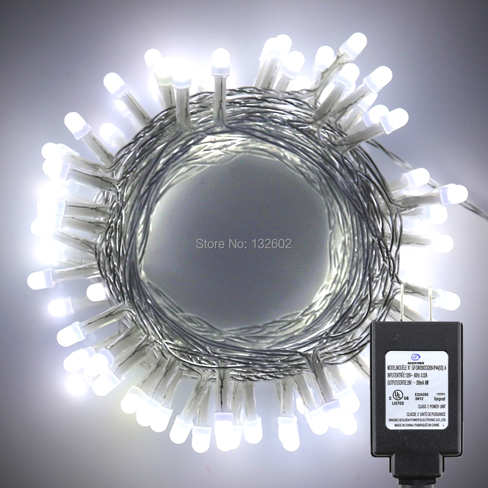 10m 33ft 100leds Warm White Pearl Led String Starry Lights Christmas Copper Wire Strip 12v Dc Holiday Fairy 8 Modes Us Eu Uk Adapter In From Lighting On