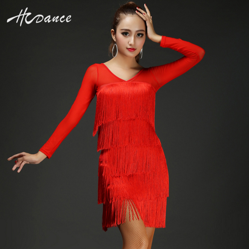 NEW latin dance vestido women top Salsa Tango Rumba flamengo Ballroom Dance Dress Skirt deep V-neck modern dance costumes A313