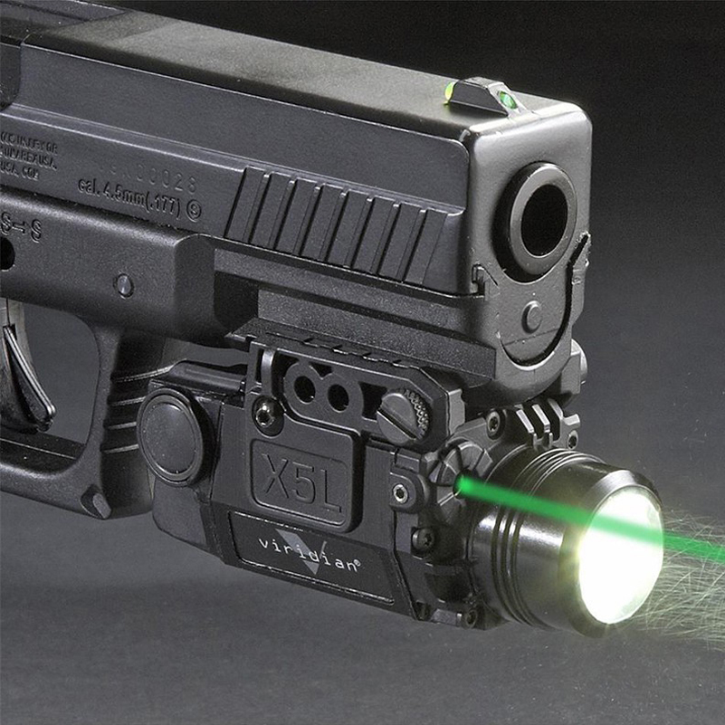 Tactical Green Laser Sight With Led Flashlight Combo With