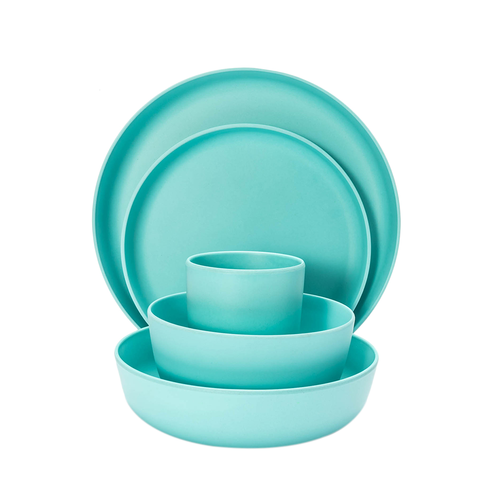 Western Salad Dishes: European Tableware 5pcs Bamboo Fiber Household Dishware