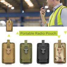 Multifunctionele Radio Telefoon Holster Outdoor Hunting Bag Draagbare Interphone Pouch Houder Radio Molle Pouch Houder Attachment(China)