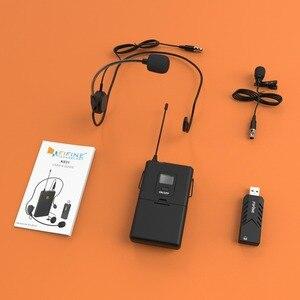 Image 5 - Fifine kablosuz yaka mikrofonu PC ve Mac için, kondenser mikrofon için USB alıcısı ile görüşme, kayıt ve Podcast
