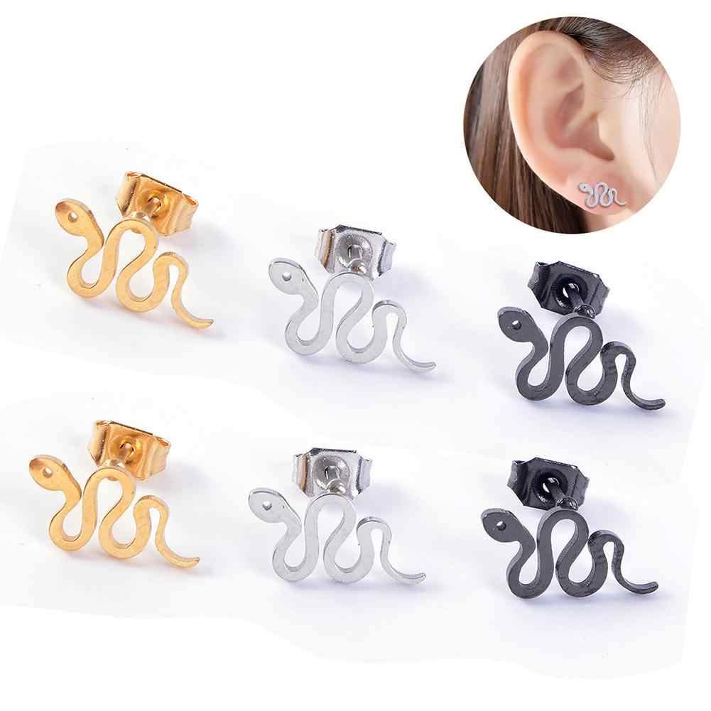 2018 New Design Fashion  Anti-allergy Snake Shape Pendant Animal Stud Earrings For Women Statement Ear Stud Jewelry Brincos