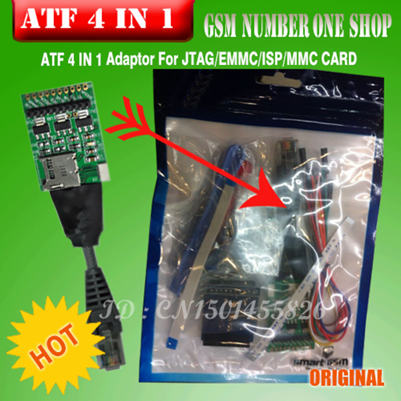 Neue Atf Box Atf 4 In 1 Ultimative Jtag/emmc/isp/mmc Adapter Communication Equipments Telecom Parts