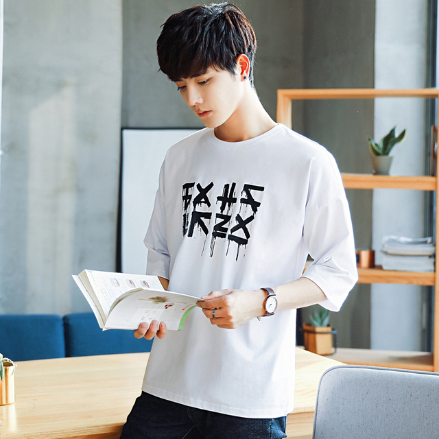 2018 New Arrival High Quality Half Sleeve Cotton T Shirt Men Korean