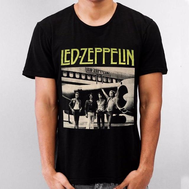 3f5418efd Unique T Shirts Premium Men Crew Neck Short Sleeve Black Shirt Led Zeppelin  Robert Plant John Paul Bonham Blues Rock Tee Shirts