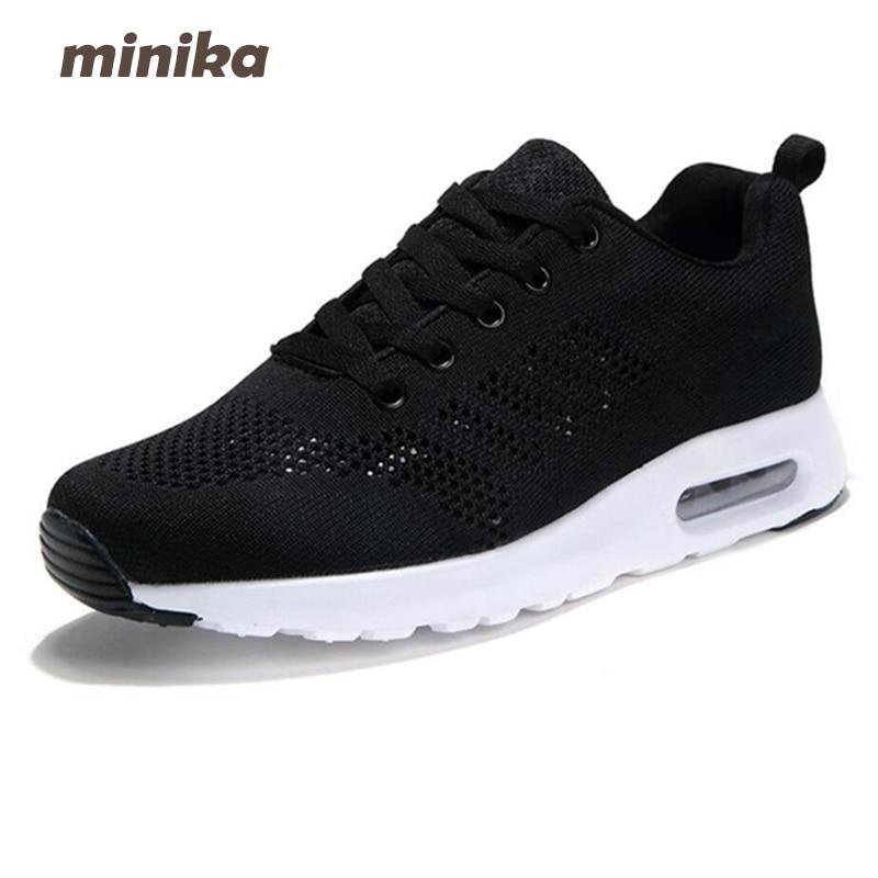 Minika New Spring & Autumn Women Shoes Casual Women Mesh Lace Up Flats Shoes Fashion Outdoors Walking Platforms Shoes 7e44 minika soft