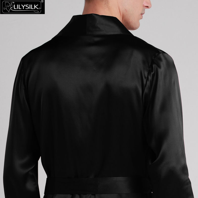 1000-black-22-momme-lapel-collar-long-silk-dressing-gown-02