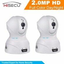 Hisecu Inicio de Seguridad CCTV de Interior Cámara de 2MP 1080 P Wifi IP Cámara Del Monitor Del Bebé Cámara de Visión Nocturna de La Cámara 3.6mm lente 2 Unids