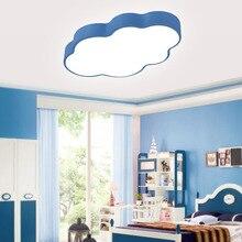 Потолочный светильник с синим облаком для гостиной, спальни, детской комнаты, светодиодный потолочный светильник с поверхностным креплением, освещение для дома