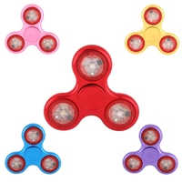 2017 Hot Shining LED Lights Hand Finger Spinner For Autism And ADHD Fidget Fingertip Spinner Children