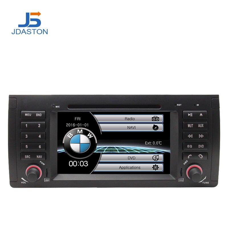 JDASTON Voiture Multimédia Lecteur DVD Pour BMW 5 Série/X5 E53 E39 GPS Radio Capacitif Tactile Écran Arrière Vue caméra Microphone Carte