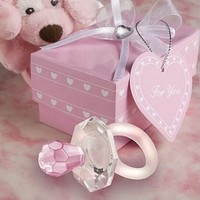 10pcs Crystal Pacifiers Blue/Pink Wedding Birthday Party Baby Shower Gifts Favor Souvenirs Packaged With Box