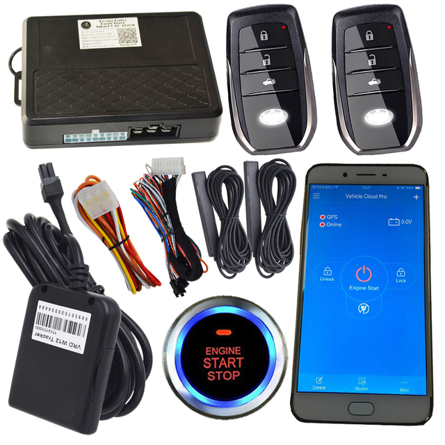 Gsm Car Alarm System With Online Realtime Gps Tracking Auto Central Door Lock Or Unlock By