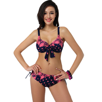 2015 Latest Plus Size Bikini Size Women Sexy Beach Low Waist Batching Fashion Girls Party Swimsuit