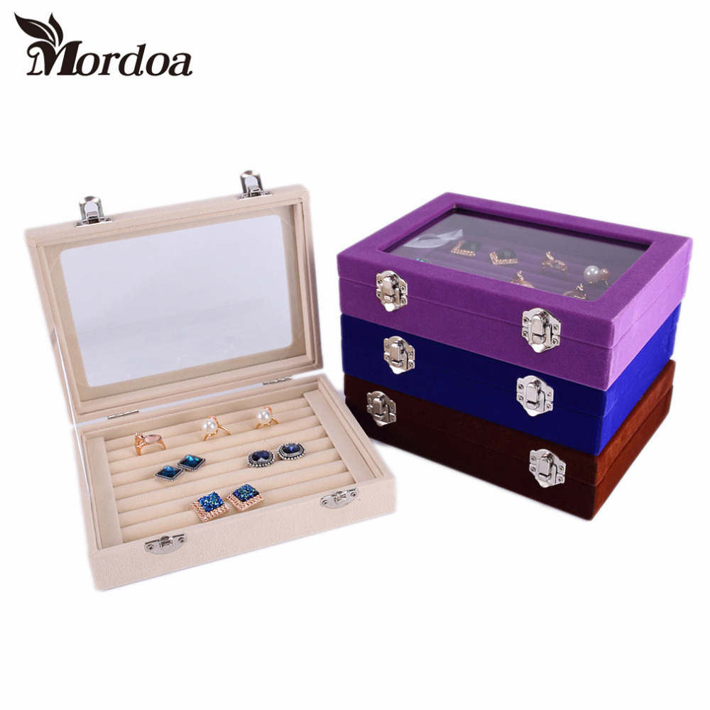 2016 Fashion Jewelry Display Casket / Jewelry Organizer Earrings Ring Box /Case for Jewlery Gift Box Jewelry Box Free Delivery