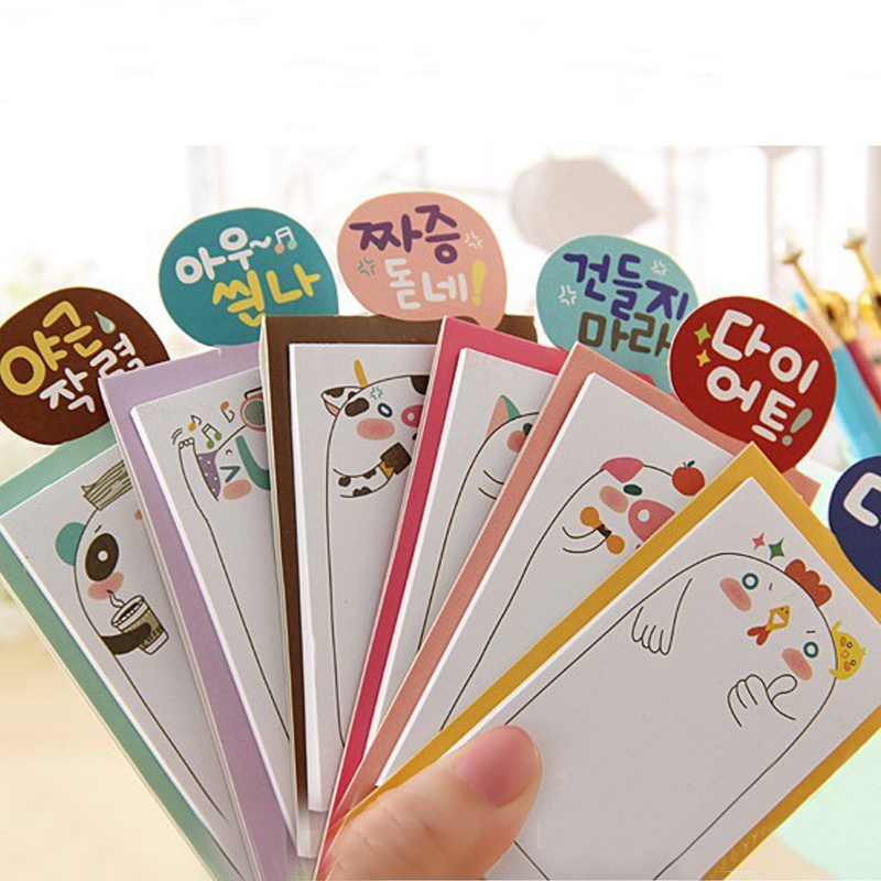 2 pcs/pack N paste South Korea creative stationery adorable family post/message/book/notes sticky notes momo pad Note book
