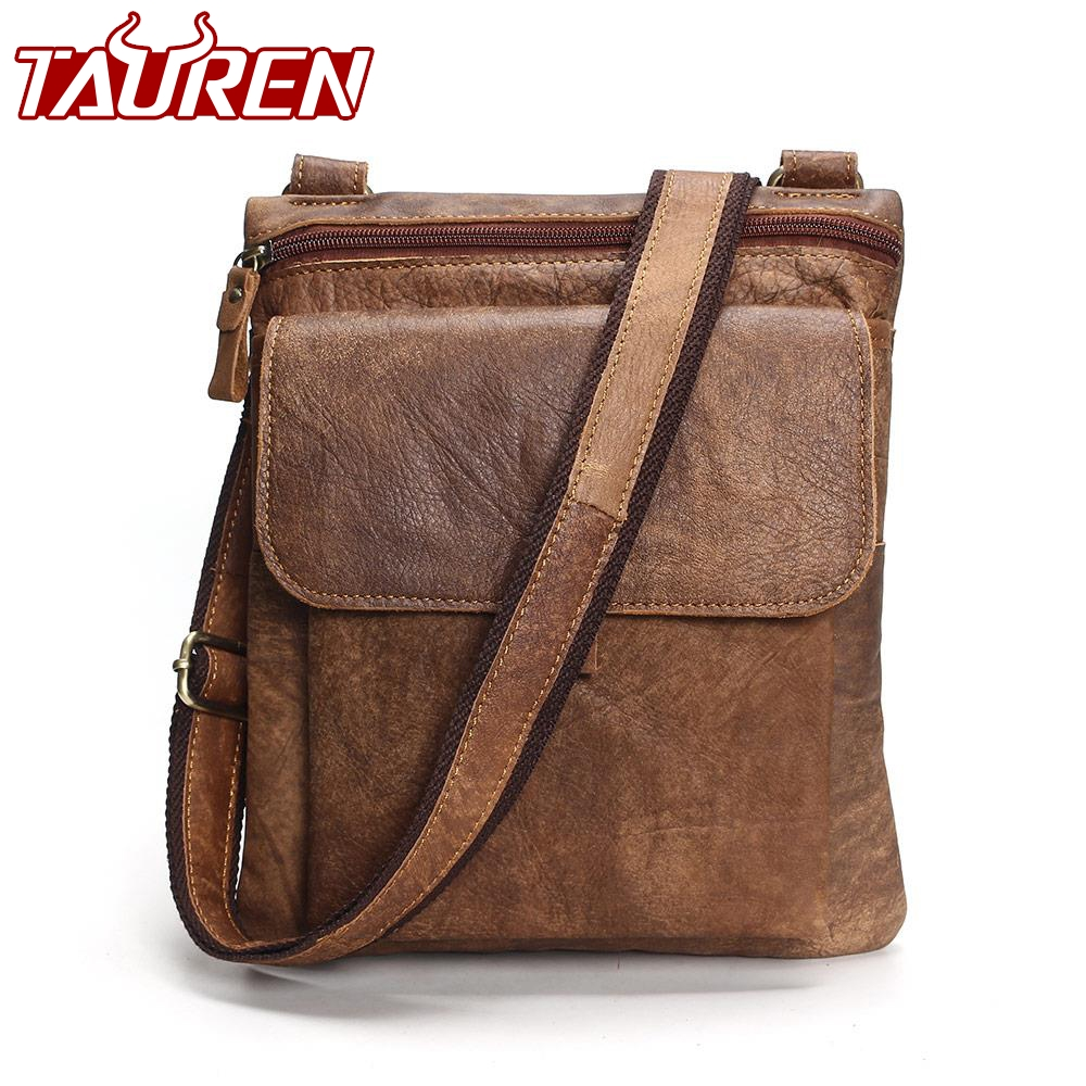 2018 Famous Brand Leather Men Shoulder Bag Casual Business Satchel Mens Messenger Bag Vintage Men's Crossbody Bag Bolsas Male famous brand vintage casual crazy cowhide leather messenger bag men satchel crossbody shoulder business briefcase bag w0960