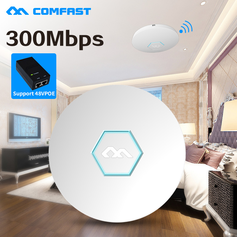 5PCS COMFAST CF-E325N 48V PoE 300Mbps Wifi Router Wireless Repeater Wall Mount Ceiling AP Access Point Signal Bosster  Extender dx original 300mbps wireless n mini router signal amplifier repeater black