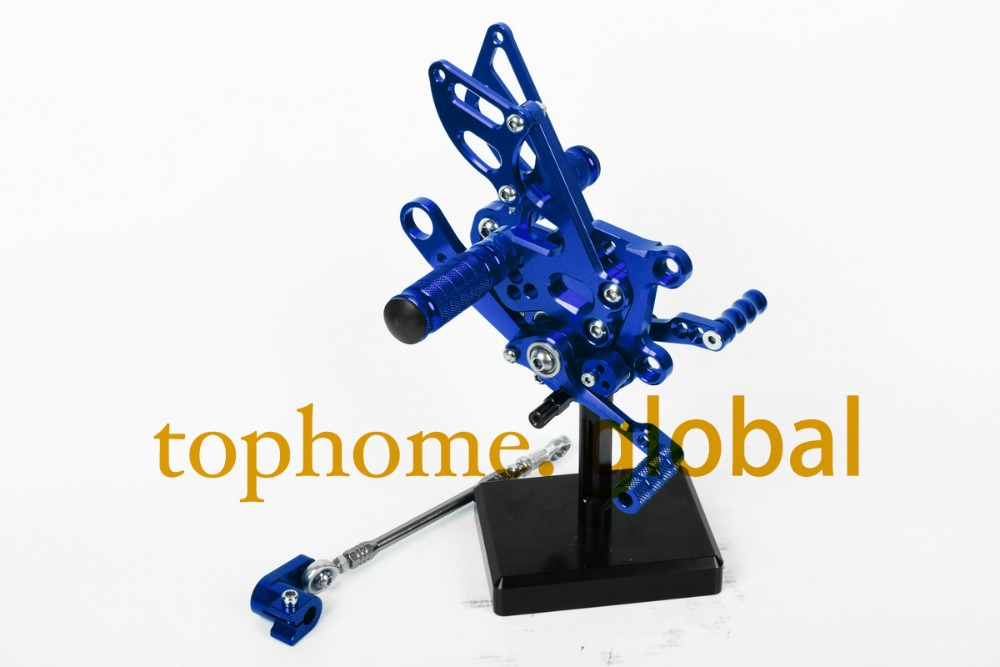 Blue Motorcycle Parts CNC Rearsets Foot Pegs Rear Set For Aprilia RSV4 2009-2012 2010 2011 motorcycle foot pegs