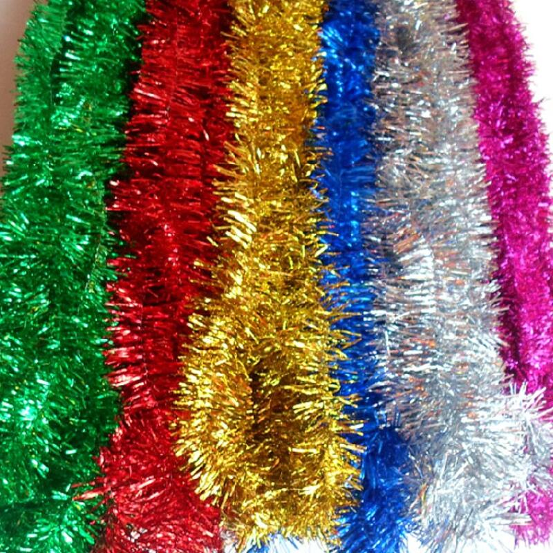 2 meters plastic color streamers wall christmas tree Christmas tree ribbon garland