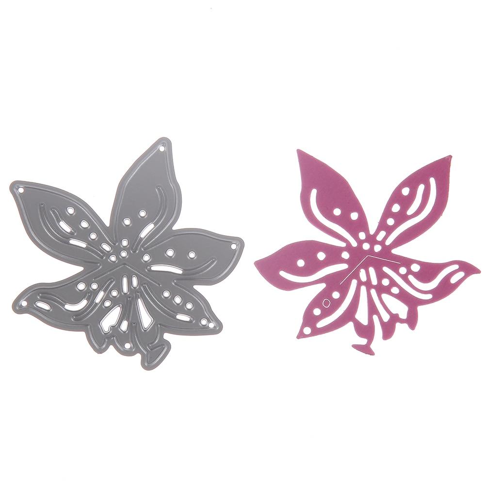 Diy Cards Album Scrapbooking Dies Metal Flower Lily Embossing Tools