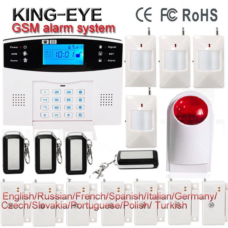 Russian/French/Spanish/Polish/Italian voice prompt GSM alarm systems security home door window alarm wireless siren APP control russian french spanish polish voice prompt gsm alarm system for home security anti theft pir detector wireless siren app control