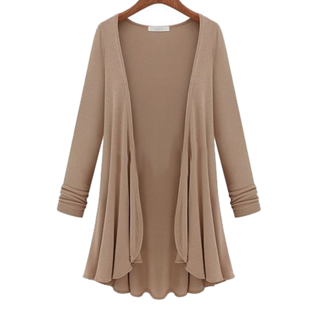 Women Fashion Cotton Top Thin Blouse Long Sleeve Summer Cardigan ...