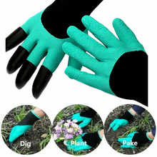 1 pair Latex Glove With Fingertips Claws Home Cleaning Gardening Raking Digging Planting DROP SHIPPING OK